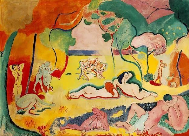馬諦斯《生命的喜悅》。圖/取自Wikipedia。