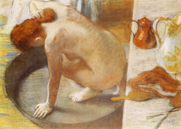 Edgar Degas,《The Tub》,1886。