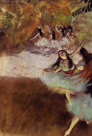 Edgar Degas,《On the Stage》,1880。