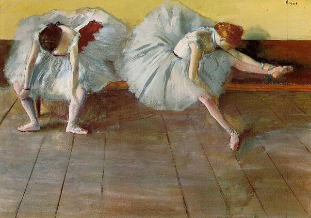 Edgar Degas,《Two Ballet Dancers》,1879。