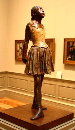 Edgar Degas,《Little Dancer, Fourteen Year Old》,1880-1881。