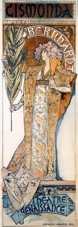 慕夏,《吉斯蒙達》,1894。圖/取自Wikimedia。