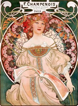 慕夏,《F‧尚普努瓦》,1897。圖/取自Wikimedia。