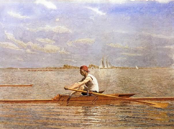 Thomas Eakins,《John Biglin in a Single Scull》,1874。