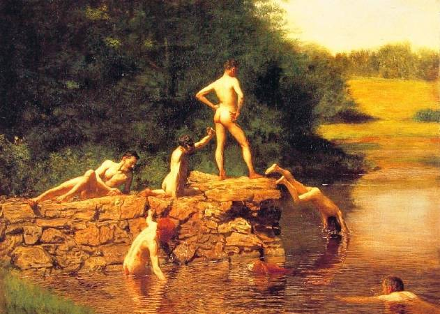 Thomas Eakins,《The Swimming Hole》,1883。