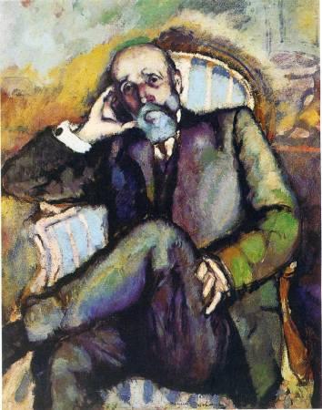 杜象,《藝術家的父親》,1910年。