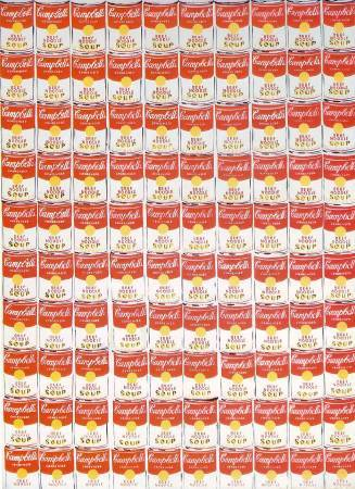 Andy Warhol,《100 Cans》,1962 ©Andy Warhol。圖/取自wikiart。