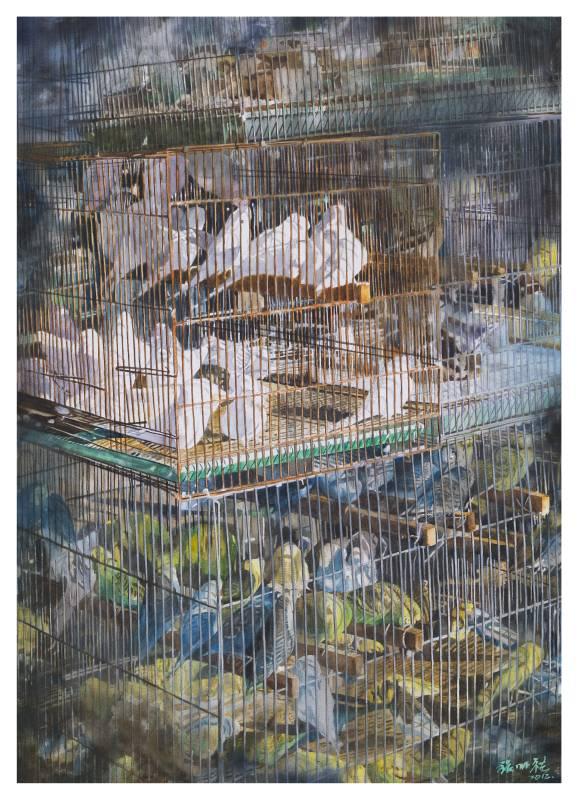 鳥籠<II> 104×76cm 2012