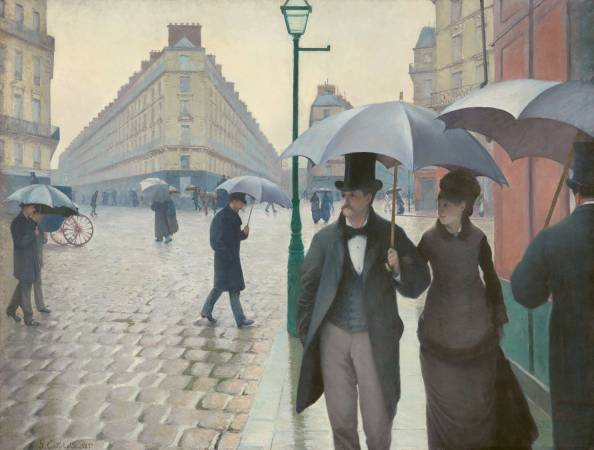 Gustave Caillebotte,《Paris Street; Rainy Day》,1877。圖/取自Wikipedia