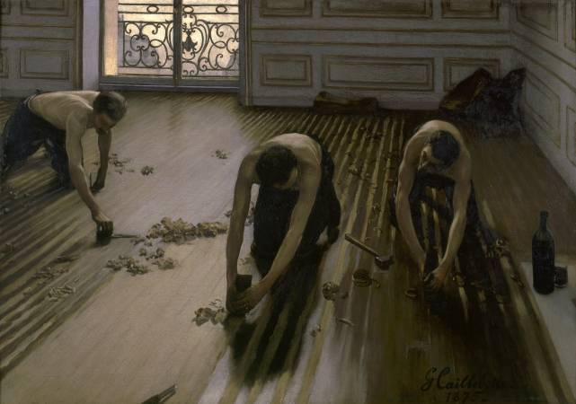 Gustave Caillebotte,《The Floor Scrapers》,1875。圖/取自Wikipedia