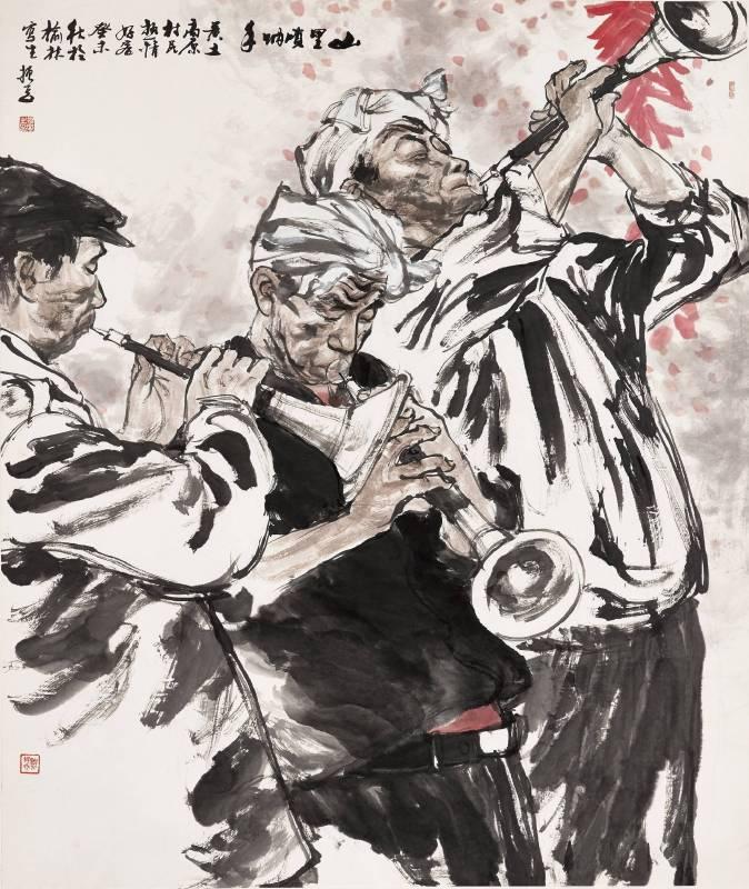 劉振夏,《山里嗩吶手》,2003。