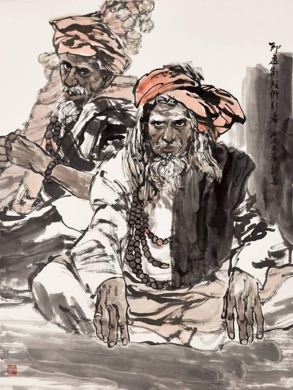 劉振夏,《印度街頭修行者》,2006。