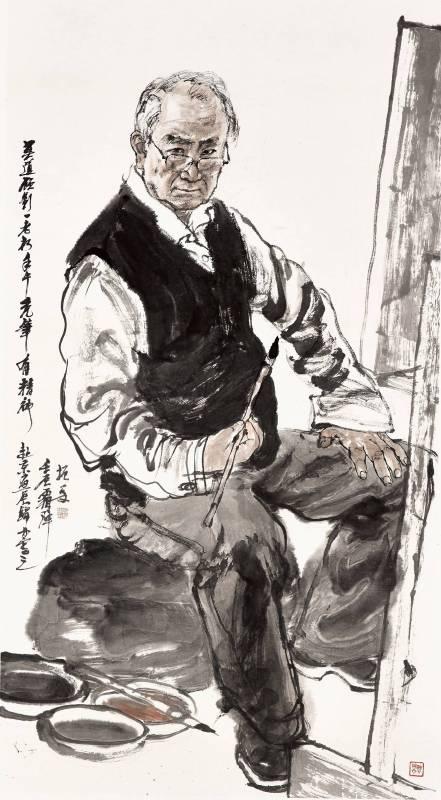 劉振夏,《自畫像》,2012。