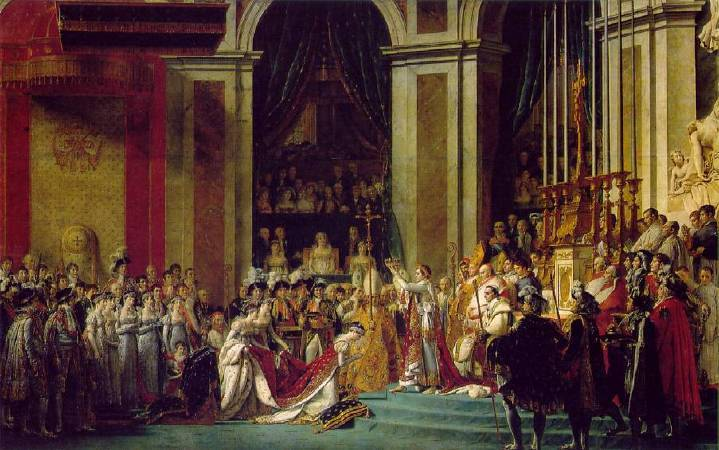Jacques-Louis David,《The Coronation of Emperor Napoleon and Empress Josephine》,1806。圖/取自Wiki Art