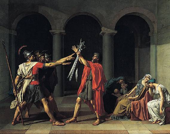Jacques-Louis David,《The Oath of the Horatii》,1784。圖/取自Wiki Art