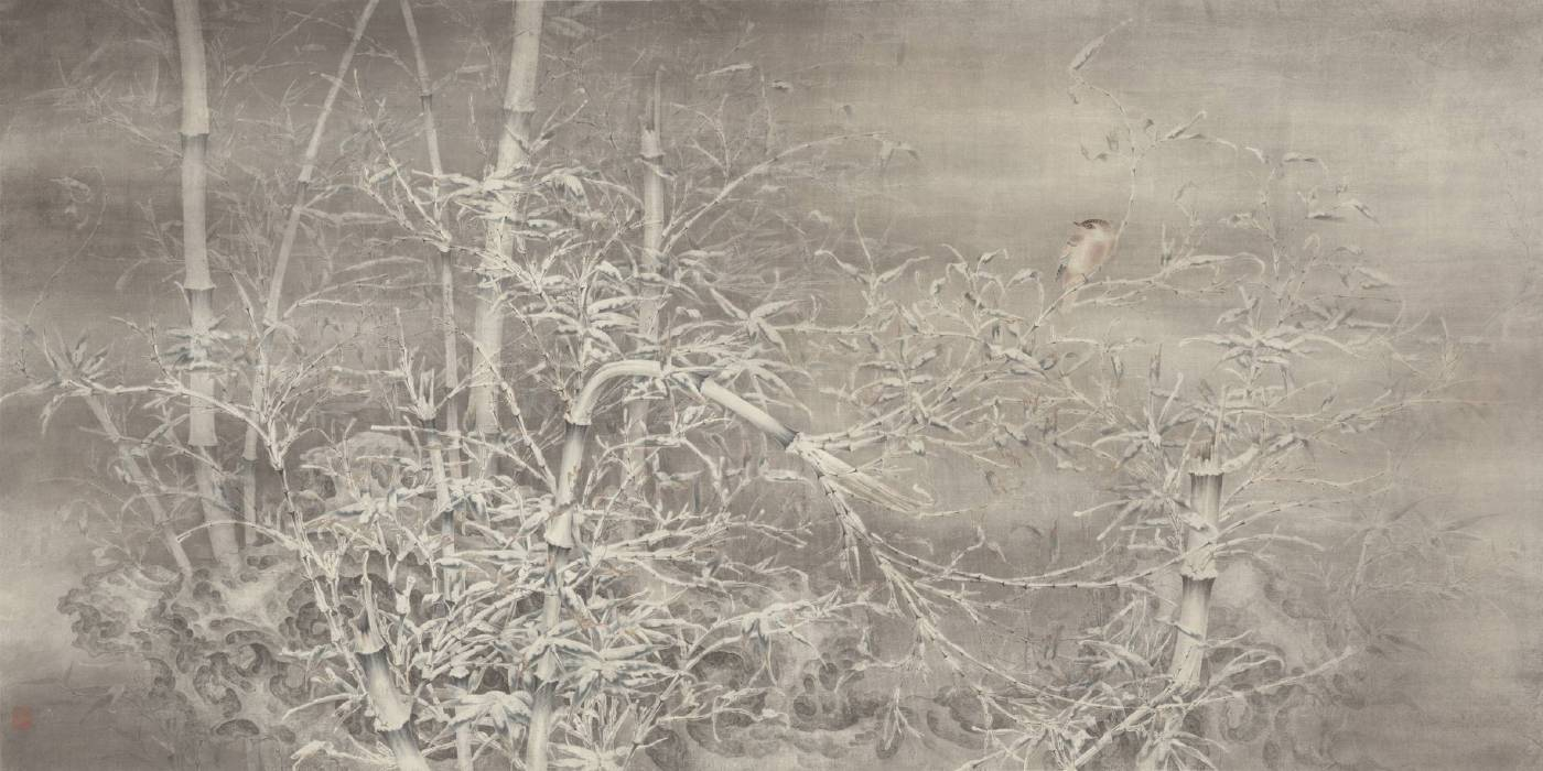 任重〈雪竹獨棲〉 83x164cm 2015
