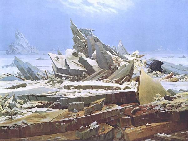 佛列德利赫,《冰之海》,1823–24。