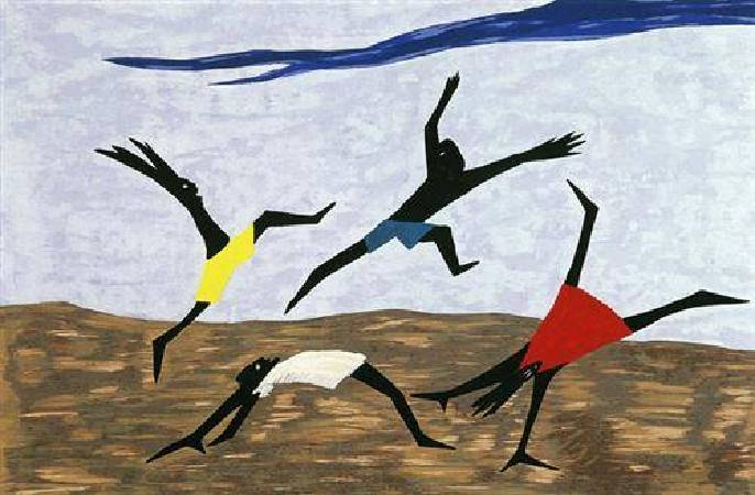 Jacob Lawrence,《Harriet Tubman Series》,1940。