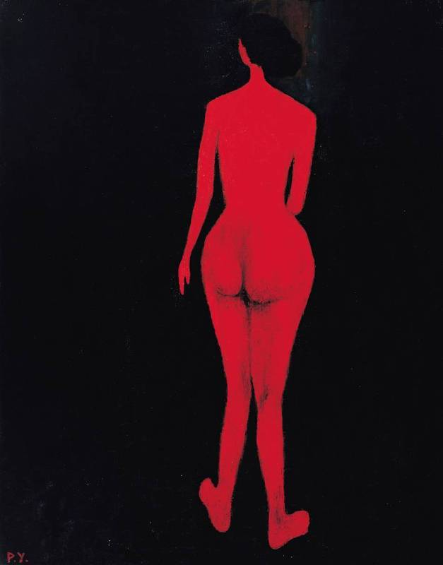 王攀元 Wang Pan Youn 紅影 A Red Shadow 116.5x91cm 1980 油畫 Oil on Canvas