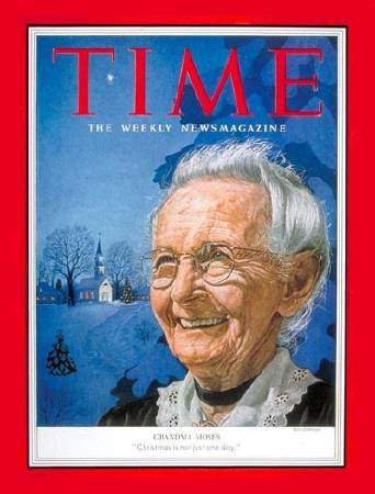 摩西奶奶登上《TIME》雜誌封面。
