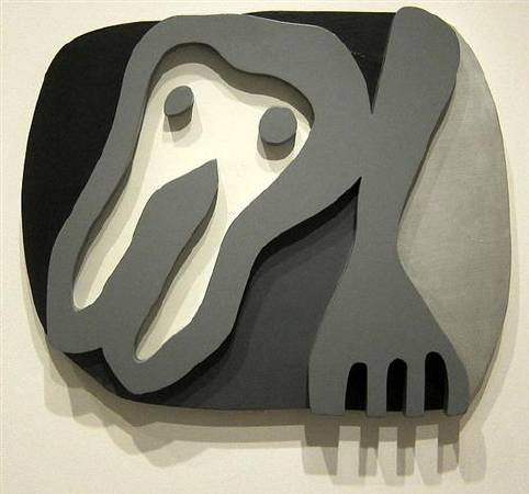 Jean Arp,《Shirt Front and Fork》,1922。