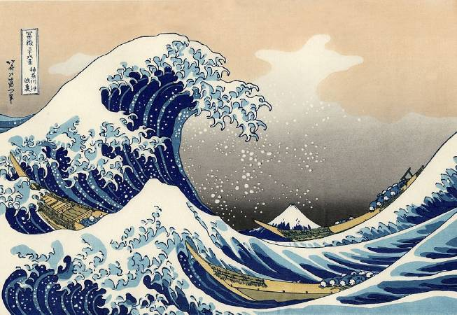 葛飾北齋,《富嶽三十六景:神奈川沖浪裏》,1831。圖/取自wikipedia