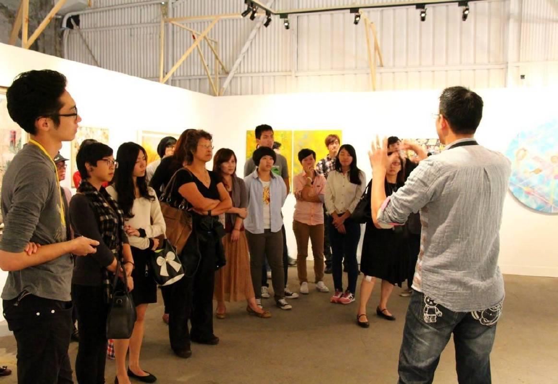藝術家博覽會現場藝術導覽活動