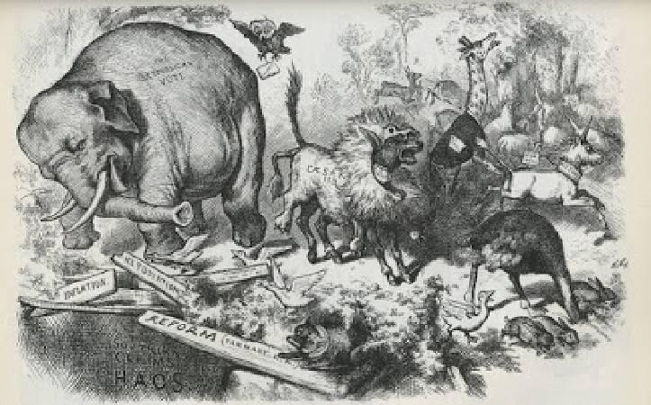 托馬斯•納斯特,《第三個任期的驚慌》,1874。