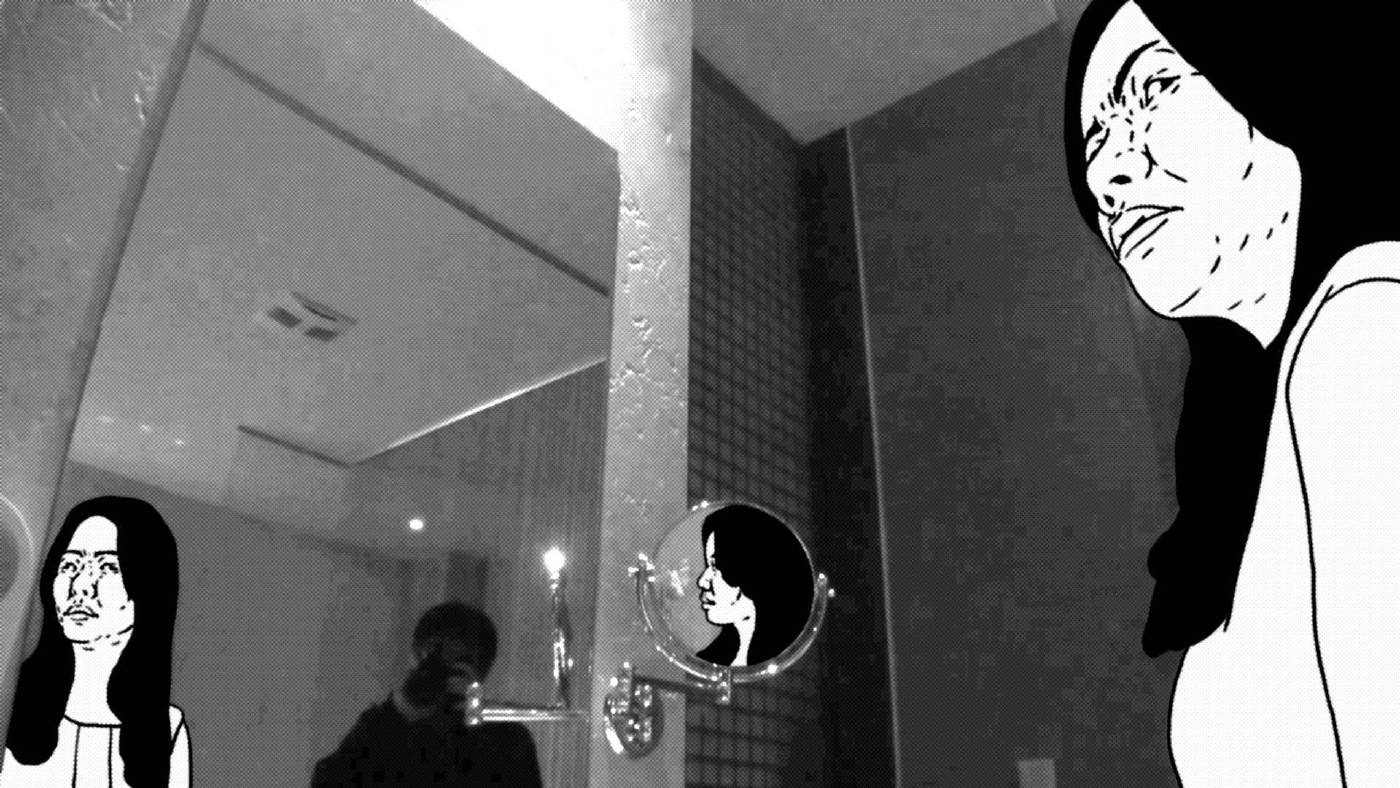 許哲瑜,《麥克風試音》, 影像擷圖 01。