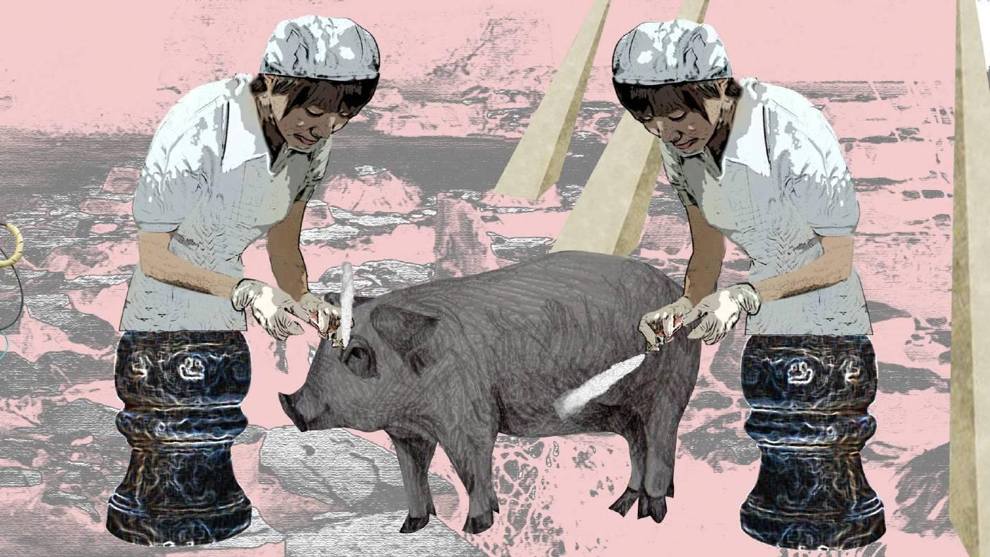 陳依純,《曲水流豬》。