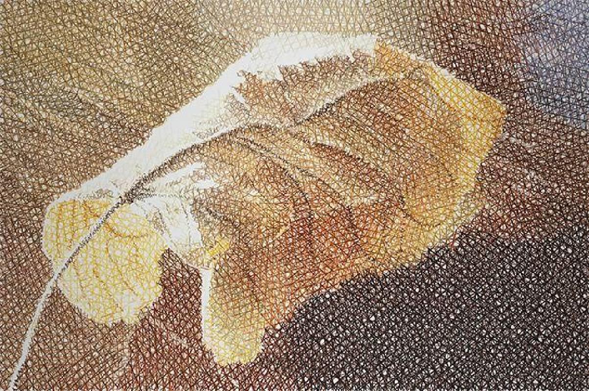 鄭君殿,2014-2015,《葉子 II》,油彩/畫布,200 x 300 cm