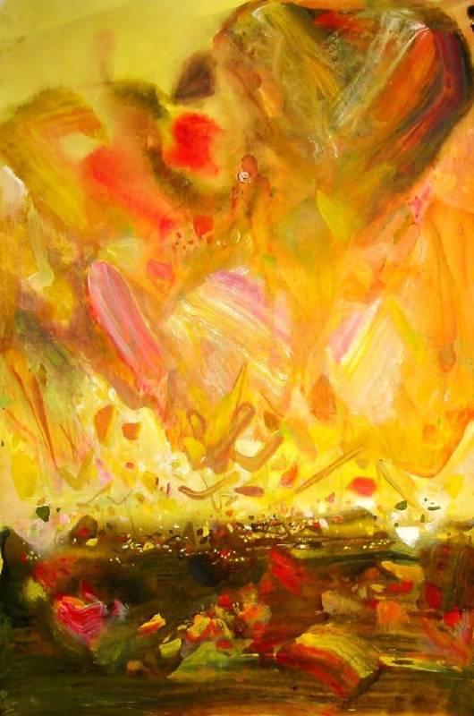 朱德群 金秋 90x75 cm 石版版畫 2006
