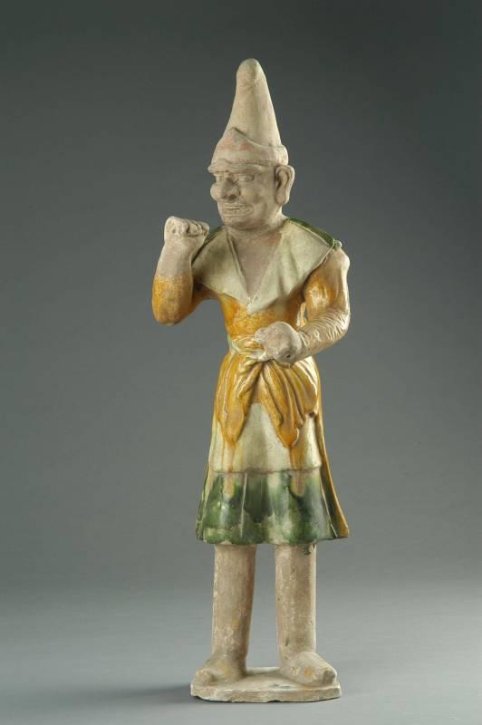 三彩牽馬俑,唐代,1963年出土於洛陽市關林  (洛陽博物館典藏)