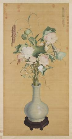 郎世寧,《聚瑞圖》。圖/國立故宮博物院提供。