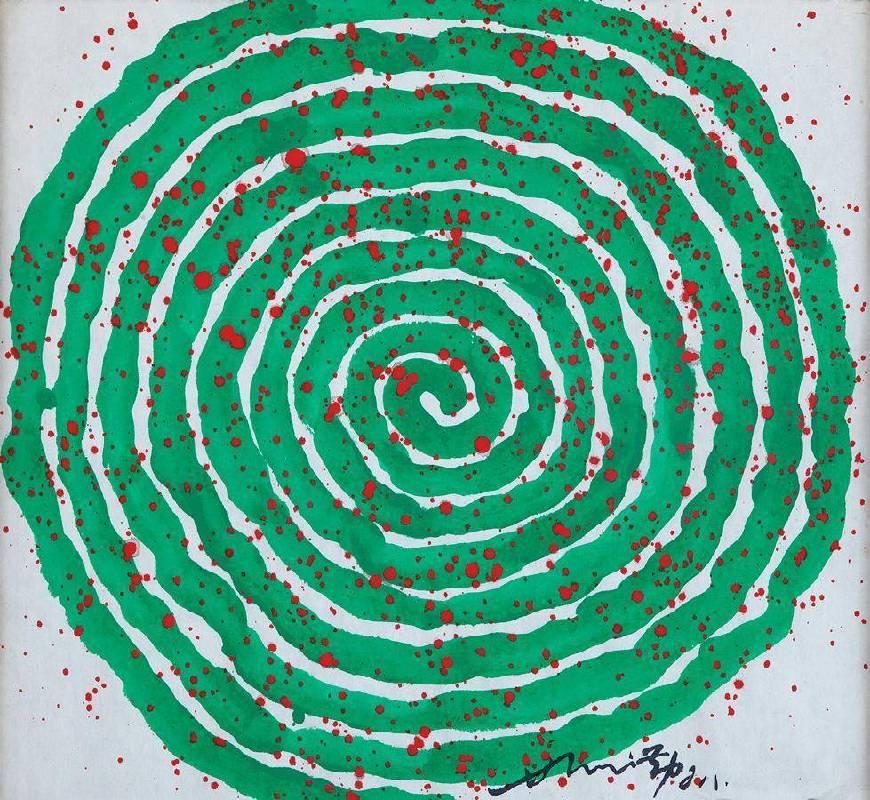 蕭勤,2008,47.3 x 51.5cm