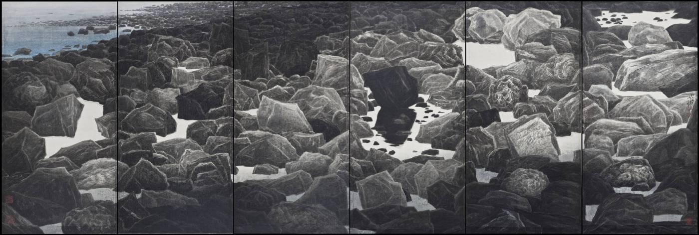 跳石海岸 199.5×600cm 2014