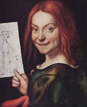 卡洛托《孩子與圖畫的肖像》。圖/取自Wikipedia。