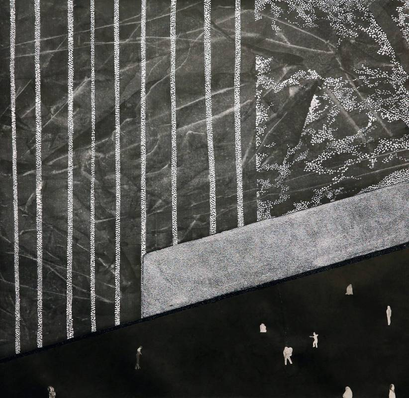 困獸之鬥 8,  複合媒材, 70x70cm, 2015