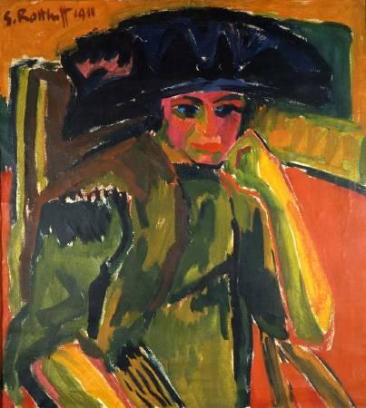 施密特‧羅特盧夫,《羅莎.沙畢爾肖像》,1911年。