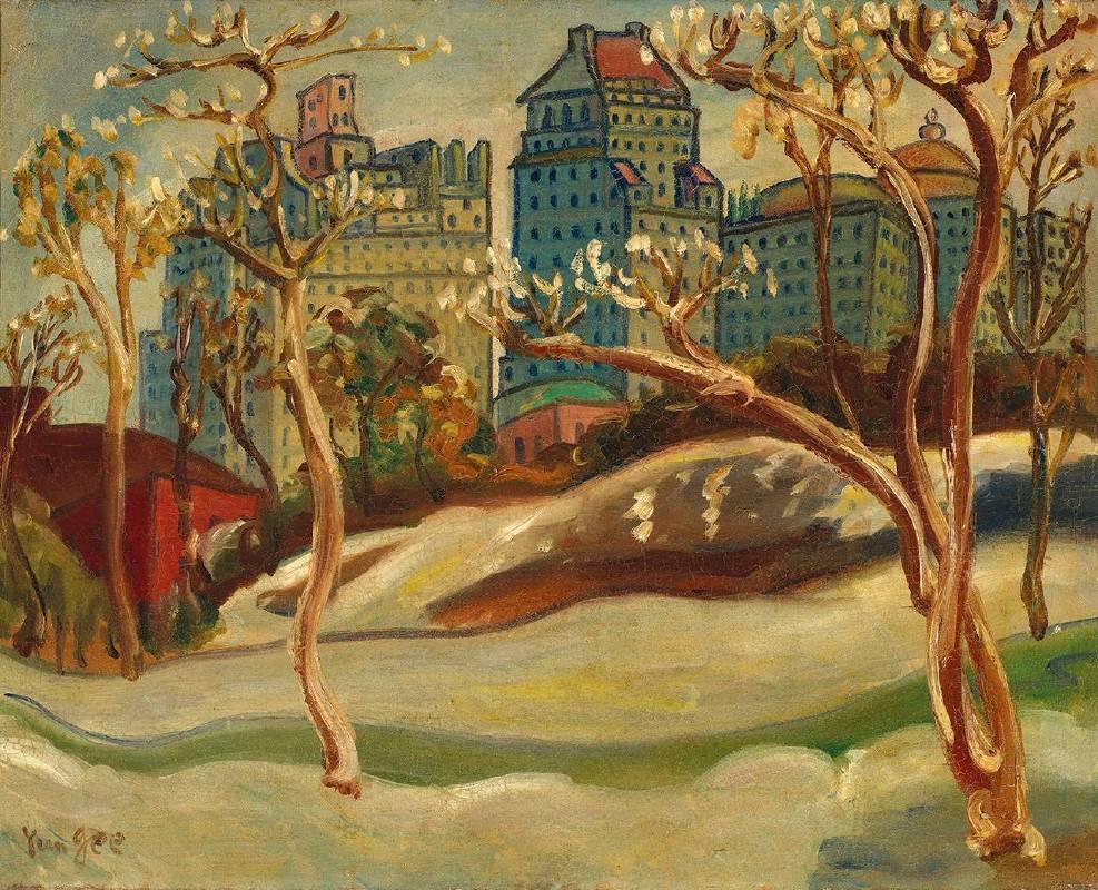 朱沅芷《中央公園》 油彩 畫布 41.2 x 51 cm預估價900萬-1,800萬台幣