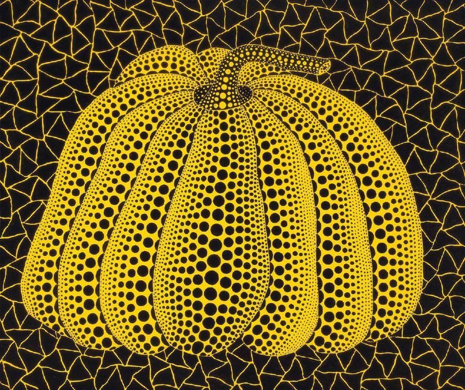 草間彌生《南瓜》 1997 壓力克 畫布 45.5 x 38 cm預估價420萬-600萬台幣