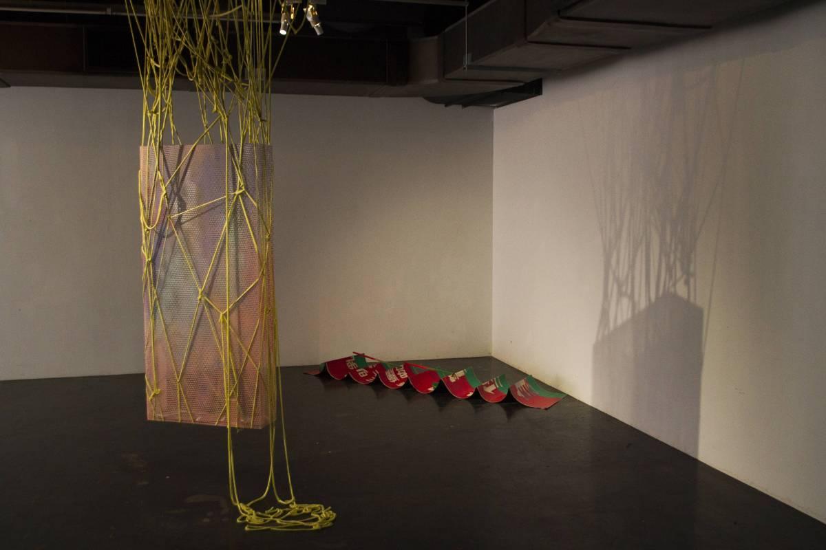 丹羽陽太郎「視覺混種」展出作品〈Spatial Causality#3〉與〈Brunch on Sunday〉