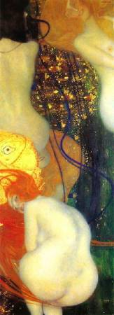 Gustav Klimt,《Gold Fish》(金魚),1902。圖/取自https://commons.wikimedia.org/wiki/File:Klimt_-_Goldfische_-_1901-02.jpeg