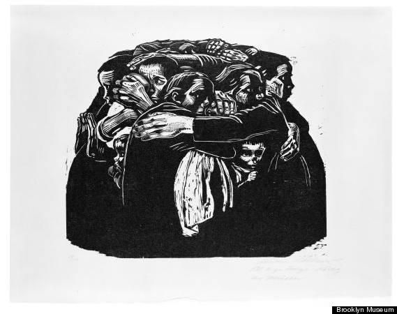 Käthe Kollwitz,《Die Mütter》,1922。圖/取自 wikiart。