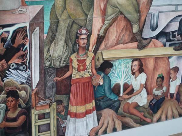 迪亞哥•里維拉畫作中的卡蘿。