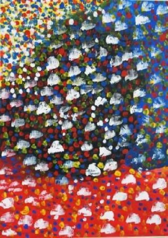 國度之外〈永和永安生活館〉-2014熱鬧01-壓克力、畫紙54.5x39.4cm