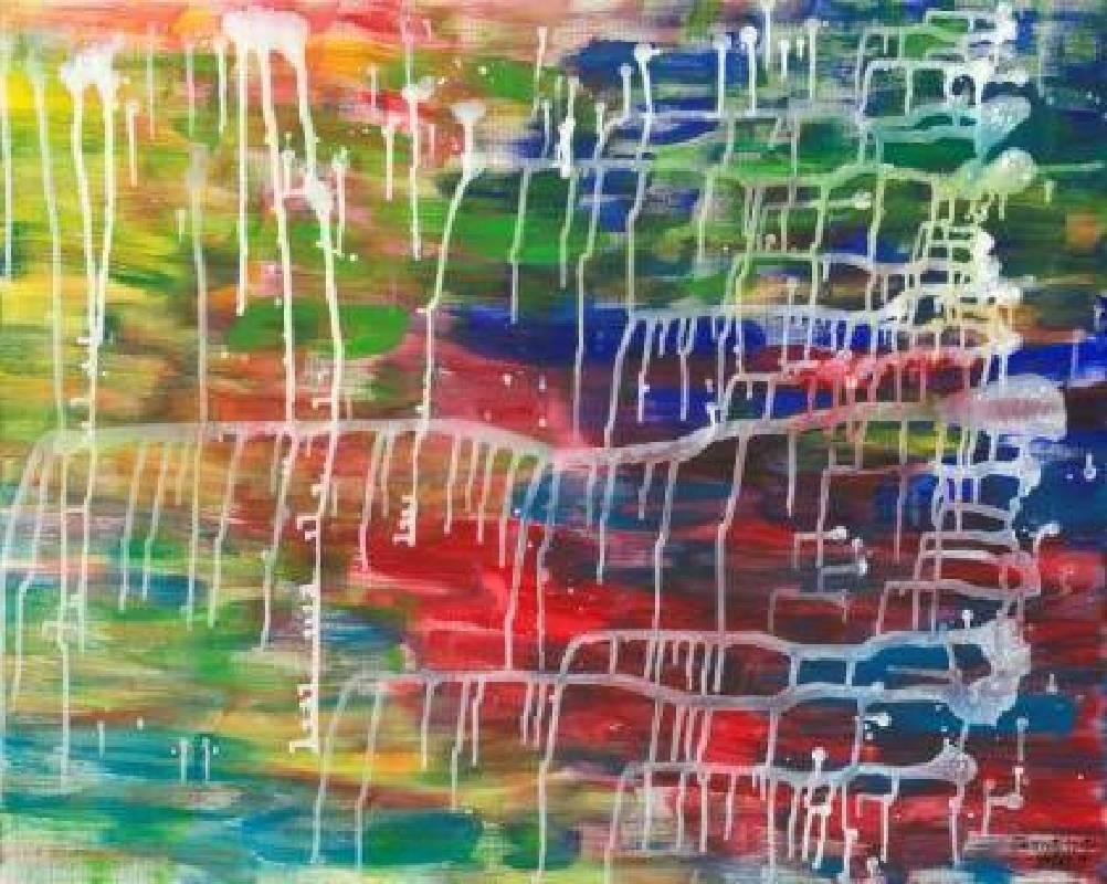 國度之外〈永和永安生活館〉-2015抽象神話03--壓克力、畫布72 x91 cm