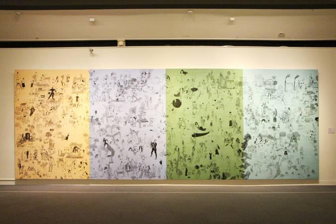 李明則《台17線》。圖/非池中藝術網攝。