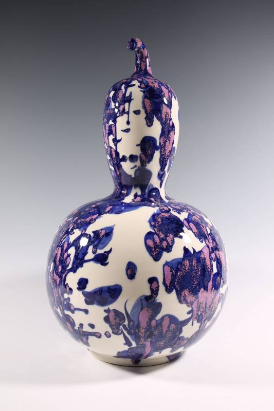 張嵐軍  《化蝶系列之七十八葫蘆瓶》  2015  31×31×53公分
