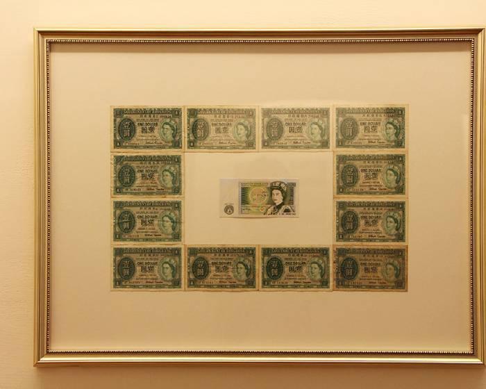 敘事與詮釋  紙鈔拼貼的歷史畫